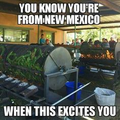 I'm not from here, but have been here for almost 8 years, I definitely get excited when I see those big roasters out in front of the store! New Mexico Style, New Mexico Homes, New Mexico Usa, Mexico Food, New Mexico Road Trip, Mexico Travel, Mountain Formation, Albuquerque News, In Memory Of Dad