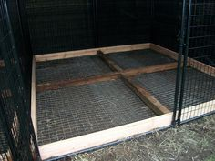 for the bottom of outside dog kennel - keep dog from digging out of kennel run