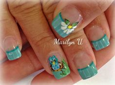 Uñas Garra, Acrylic Nails, Nail Designs, Nail Art, Beauty, 3d, Enamels, Easy Nails, Girly Girl