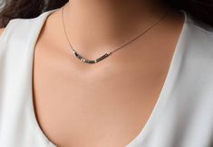 Necklaces – Page 19 – Finest Jewelry Long Silver Necklace, Dainty Necklace, Sterling Silver Necklaces, Layered Necklace, Silver Jewelry, Sapphire Necklace, Birthstone Necklace, Sterling Jewelers, Hematite Necklace