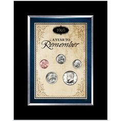 American Coin Treasures Year To Remember Coin Desk Frame (1965-2015) (1965)