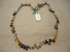 "Natural Multi Stone Multi Shape Faceted 17"" Beads Fancy Necklace, 106 Cts…"