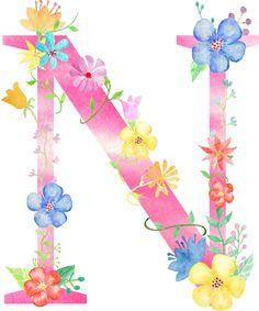 Flower Alphabet, Flower Letters, Flower Frame, Monogram Wallpaper, Alphabet Wallpaper, Alphabet Symbols, Alphabet And Numbers, Alien Drawings, Cute Drawings