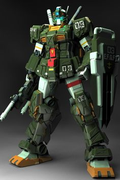RGM-79FP GM Striker is a ground close-quarters combat mobile suit and variation of the RGM-79 GM. It was featured in the original design series Harmony of Gundam, the manga series Mobile Suit Gundam: We're Federation Hooligans!! and its sequel manga series Mobile Suit Gundam Katana. Front