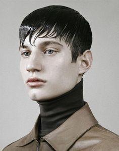 Portrait about Alex at WAM models Photographer:Szilveszter Mako Make up artist:Eszter Magyar Hair stylist:Laszlo Pasztor  #wet #oily #pale #minimal #sick #model #boy #prada