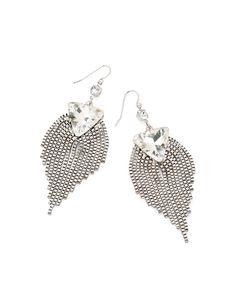 Jewelmint Peacock Fringe Earrings
