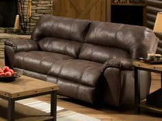 This would work great for a man cave - and it looks so comfy too! #ManCave #TheFurnitureMart
