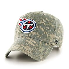 NFL Tennessee Titans 47 Officer Clean Up Camo Adjustable Hat One Size Fits Most Digital Camouflage *** Read more  at the image link.