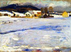 Wassily Kandinsky, at Starnberg-Winter, 1902