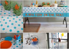 Delightful Decorations For A Fishing Theme Baby Shower   Fish Themed Baby Shower Ideas  Http:/