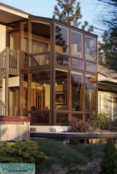 Bay window bump out additions share creative home for Two story sunroom