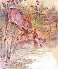 """The Busy Bunny Book"" by Anne Anderson and Alan Wright (1920) by docarelle, via Flickr"