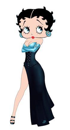 Betty Boop high slit corset dress