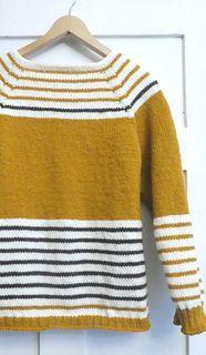 Petit Paris Mustard Stripes Jumper pattern by JoliSylvie_Knitting&Crochet Sylvia