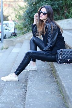 Leather + Sneakers