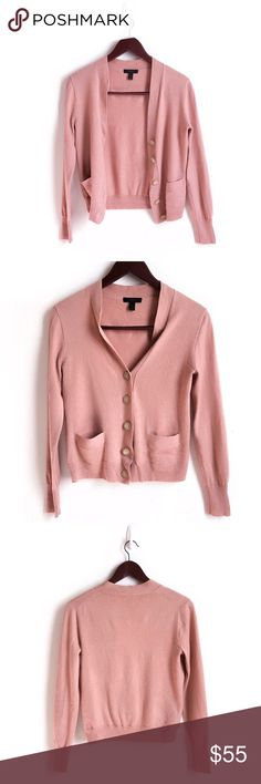 J. Crew Merino Wool Cardigan J. Crew Sweater Cardigan. Great Quality. Pink Sand Color. Material: 100% Merino Wool. Laying Flat: Armpit to Armpit 16.5 inch, Length 22 inch. Great Preowned Condition. No Modeling 🚫No Trades🚫 Due to lighting, the items color is slightly different from photos. Please feel free to ask any questions! Be sure to check out my bundle discount as well. J. Crew Sweaters Cardigans