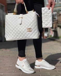 Chanel Womens Tri-color Leather Flap Chain Shoulder Bag – The Fashion Mart Cute Sneakers, Sneakers Mode, Cute Shoes, Sneakers Fashion, Fashion Shoes, Cute Handbags, Chanel Handbags, Fashion Handbags, Purses And Handbags