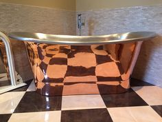This image is from our customer Paul Bohan who installed his Marseille Cyprium copper bath in April Cast Iron Bath, Copper Bath, Bathrooms, Image, Marseille, Bathroom, Bath