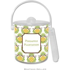 Pineapple Repeat Personalized Ice Bucket