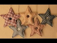 Primitive Christmas Decorations And then I made some primitive fabric stars. I simply cut fabric in . Primitive Christmas Ornaments, Prim Christmas, Christmas Sewing, Diy Christmas Ornaments, Christmas Projects, Holiday Crafts, Ornaments Ideas, Homemade Christmas Tree Decorations, Primitive Christmas Decorating