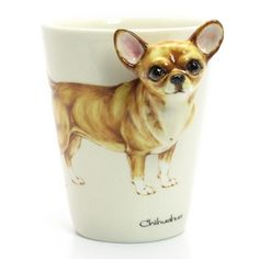 Hand Sculpted and Painted featured Chihuahua Dog Head Handle. Description from artfire.com. I searched for this on bing.com/images