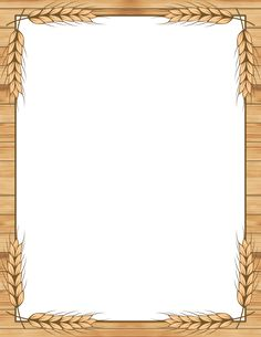 Printable wheat border. Free GIF, JPG, PDF, and PNG downloads at http://pageborders.org/download/wheat-border/