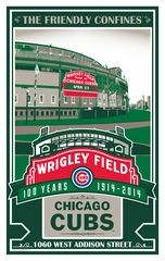 Wrigley Field 100th Anniversary Sports Propaganda Handmade Screen Print - Chicago Cubs. Limited edition of 500, signed, dated and individually numbered.