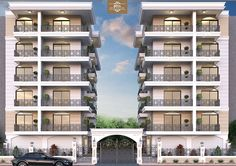 Building Elevation, Building Facade, Building Exterior, Building Design, Mansion Interior, Apartment Interior Design, Urban Architecture, Residential Architecture, Townhouse Exterior