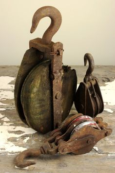 Vintage Pulleys, Block and Tackle