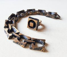 Karl Laine for Sten&Laine available at lifeupnorth. Midcentury Modern, Scandinavian, Mid Century, Bronze, Bracelets, Leather, Men, Jewelry, Design