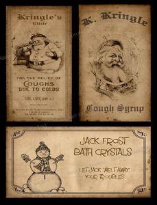 Christmas bathroom  | Primitive Christmas Bath Labels