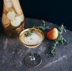 Rosemary Vanilla Pear Sangria // lovely
