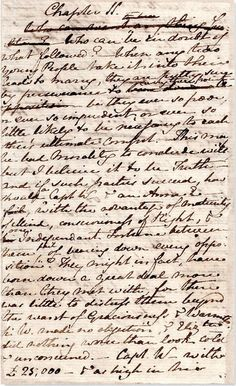 Jane Austen's original manuscript of Persuasion