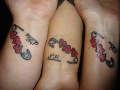 Tattoos, cute tattoos, beautiful tattoos, best friend tattoos, unique t Bff Tattoos, Dope Tattoos, Mini Tattoos, Pair Tattoos, Anklet Tattoos, Best Friend Tattoos, Little Tattoos, Unique Tattoos, Beautiful Tattoos