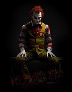 Joker as Ronald McDonald . best costume idea I've seen in a while Le Joker Batman, Batman Joker Wallpaper, Joker Wallpapers, Joker Art, Joker And Harley Quinn, Wallpaper Wallpapers, Mobile Wallpaper, Joker Poster, Joker Images