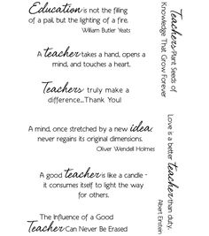 A Sincere ThankYou Note Is Usually The  Thing Teachers Love