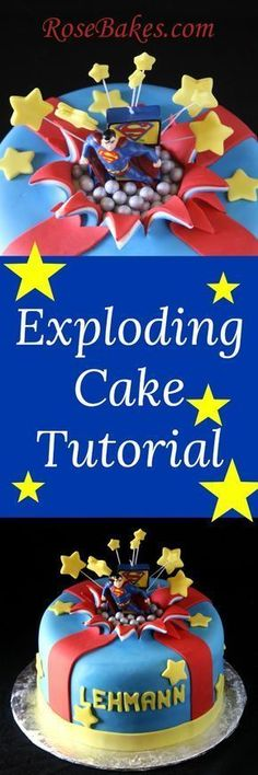 Exploding cake tutorial #cakedecorating #tutorial