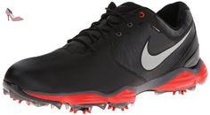 Nike Lunar Control2 SL, Chaussures de Golf Homme, Multicolore-Negro / Plateado / Naranja (Black / Reflect Silver-Lt Crmsn), 44 EU - Chaussures nike (*Partner-Link)