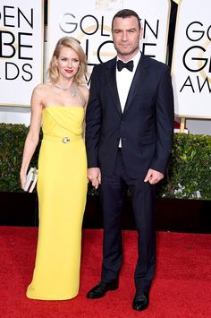 Naomi Watts, Liev Schreiber looked amazing at this years #GoldenGlobes