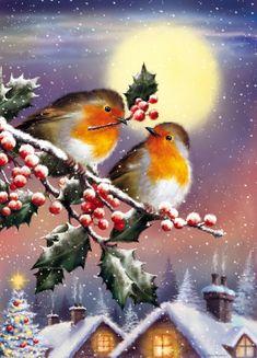 Hello Kitty Christmas, Christmas Bird, Snoopy Christmas, Christmas Drawing, Christmas Scenes, Christmas Paintings, Winter Christmas, Illustration Noel, Christmas Illustration