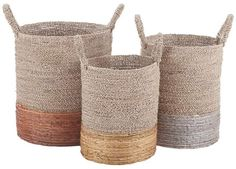 Shop for Dimond Home Mixed Metallics Set of 3 Nesting Baskets. Get free delivery On EVERYTHING* Overstock - Your Online Home Decor Outlet Store! Get in rewards with Club O! Sisal, Large Baskets, Woven Baskets, Decorative Baskets, Seagrass Baskets, Painted Baskets, Rattan Basket, Bamboo Basket, Basket Decoration