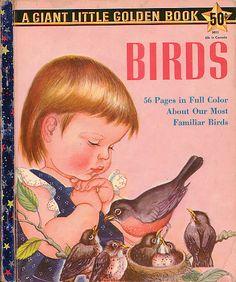 "Birds, Illustrations by Eloise Wilkin, 1958- Cover    ""Birds"", Little Golden Book, 1958by Jane Werner WatsonIllustrations by Eloise WilkinFront Coverfrom my personal collection of vintage children's books"