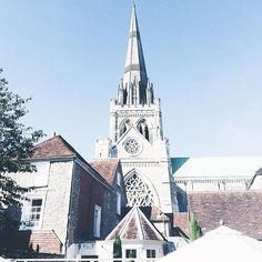 Chichester cathedral. Im so happy I got the congrats email to go to university in this beautiful city! :relaxed: