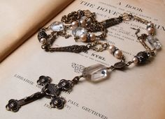 Rosary Inspired Necklace and Earring Set ~ Etsy.