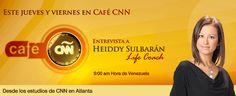 Este jueves y viernes Heiddy Sulbarán en @cafecnn desde los estudios de CNN en Atlanta junto a Carlos Montero, Lucia Navarro y Alejandra Oraa Atlanta, Movies, Movie Posters, Studios, Interview, Friday, Films, Film Poster, Cinema
