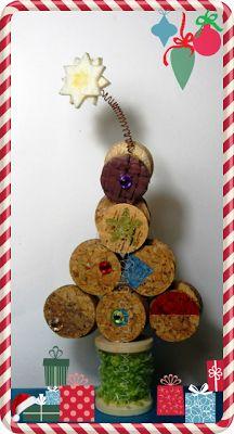 Bim Bum Beta: EcoCraftTour: Pensando al Natale... un alberello di sughero leggero!