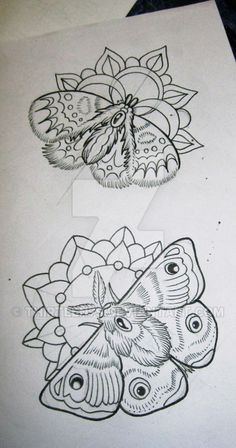 moth and flower tattoo - Google Search