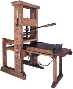 presse typographique en bois (fin du XVIIIe siècle)
