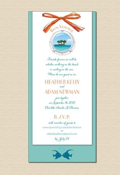 Wordinginfo idea for cruise wedding invitation Cruise wedding