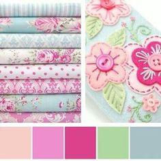 Color palette - feminine girl room without overloading on pink